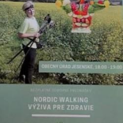 Prednáška Nordic Walking a zdravá výživa